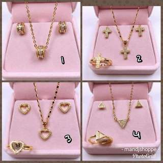 FEB 18 STAINLESS STEEL JEWELRY SET (WC)