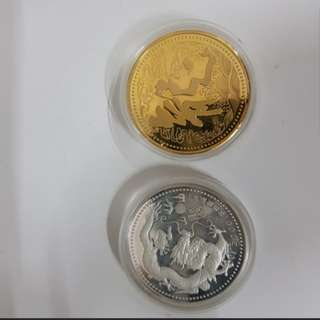 3 in 1 Coins(龙与马)