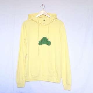 K-style yellow hoodie