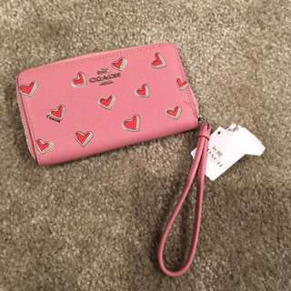 Coach heart wallet 心形 logo 銀包