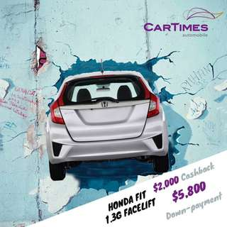 Honda Fit 1.3 GF 10% promotional downpayment