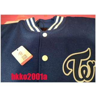 TWICE STORE [Baseball Jacket ]( Navy) ★hkko2001a★ Official Goods Baseball jacket