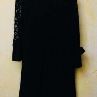Korean inspired plain black dress