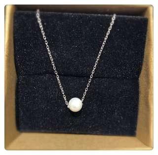 925純銀 貝珠頸鍊