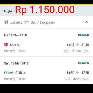 Tiket Murah Jakarta - Bali (PP)