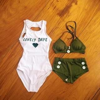 One piece and two piece swimsuits for one price