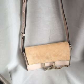 Chloé Faye Suede Small Size Strap Bag