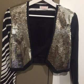Sass and bide sequin blazer jacket size 6 like new