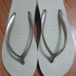 85成新哈瓦娜涼鞋37號