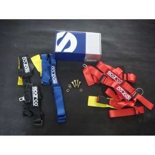 SPARCO 2'' safety belt packing Ori Red color model 35756