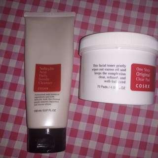 Corsx acne prone bundle (Facial wash, toner pads)