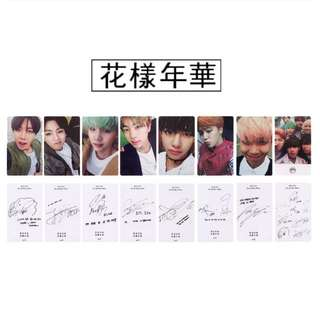 BTS I Need You Girl Album Photo Card with Signatures
