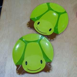 小烏龜不碎膠碟兩隻