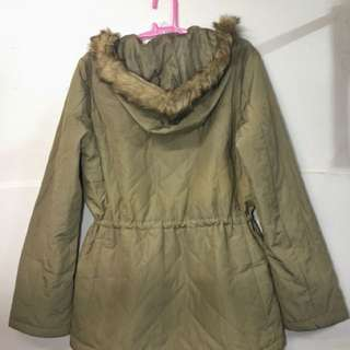 Khaki Winter Puff Jacket