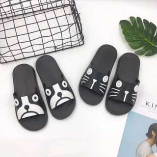 DOG AND CAT Monochrome Sandals