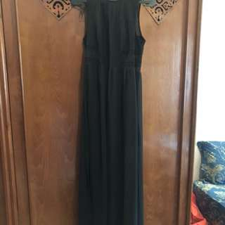 Formal Long dress black h&m