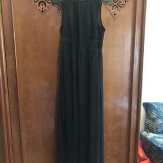 Formal Long dress black h&m