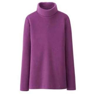 UNIQLO Heattech Fleece Turtleneck Long Sleeve