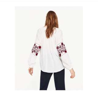 Zara Embroidery Blouse