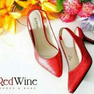 SALEEE SEPATU PESTA WANITA RED WINE SPLC93 RED SIZE 39