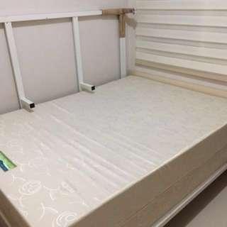 White Bedframe with Ultra foam mattress