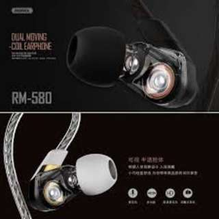 Remax RM-580 Wired Earphone