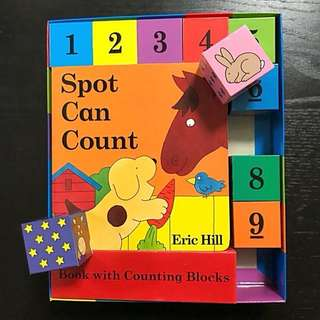 Spot Can Count Book with Blocks