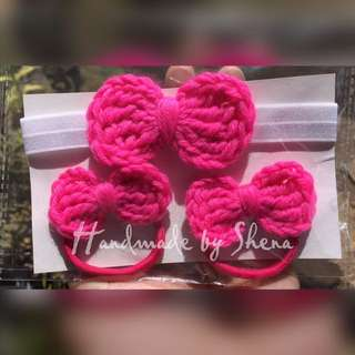 Crochet Bow Set