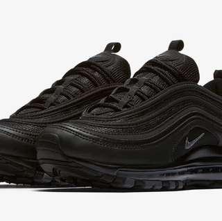 Nike air max 97 黑 23.5