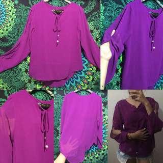 Blouse Shifon purple