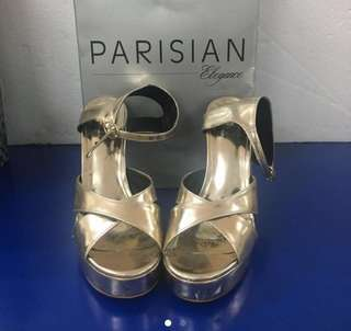 REPRICED! Sexy Gold Sandals