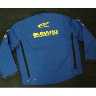 Subaru jacket light blue WRC WORLD RALLY TEAM light blue color   WATER PROOF  S size model 31567