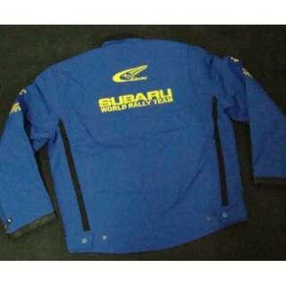 Subaru jacket light blue WRC WORLD RALLY TEAM light blue color   WATER PROOF  S size model 31567