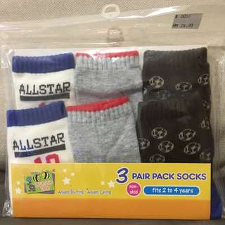 50% Off!! 3 Pair All Star Socks