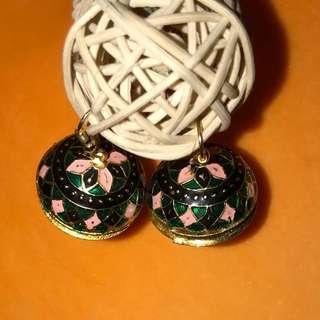 Cute mandala Jhumkas (Indian ethnic earrings)