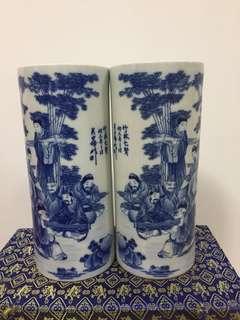 A Pair Porcelain Vases