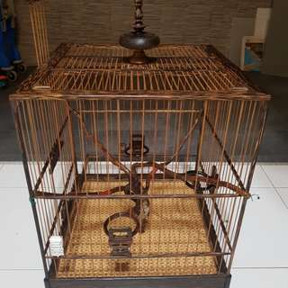 "Jambul square cage 14.5"". trade puteh"
