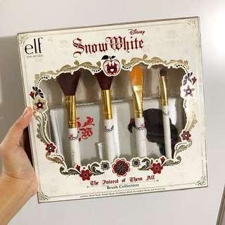 全新未開封elf Disney Snow White brush collection 白雪公主化妝掃套裝