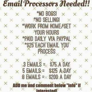 Daily paid and work from home!!