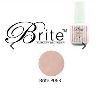 Brite gel polish baby pink and glitter