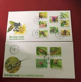 Singapore FDC as in Picture —2 pieces