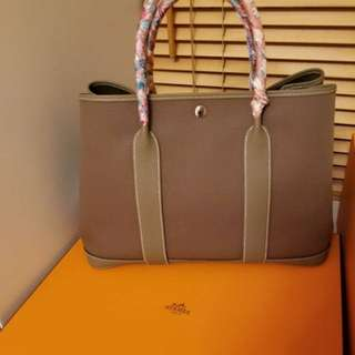 New Hermes Garden Party 36 Etoupe stamp A