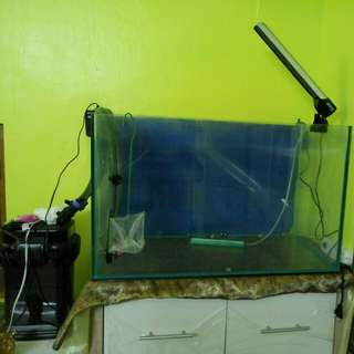 Fish Tank and water filter pump and led light