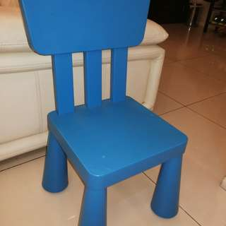 IKEA MAMMUT Children Chair - Blue