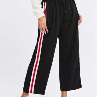 side stripe drawstring waist pants