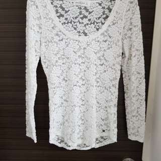 Abercrombie White Lace Top