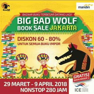 Buku Big Bad Wolf 2018 Jastip