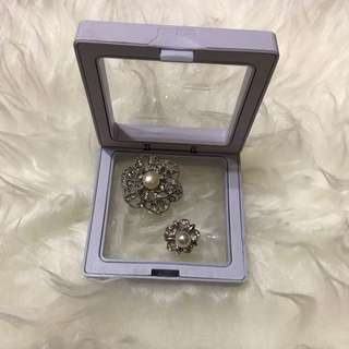 Brooch Authentic Pearl