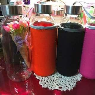全新🌸環保玻璃杯430ml+杯套子