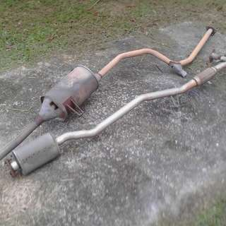 Exhaust system for Iswara 2.5, 2008